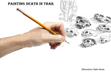 Painting death with pen in Thar